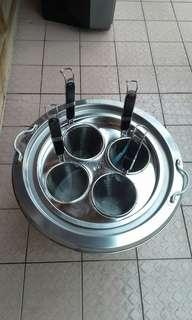 🚚 1尺魯桶2格+四孔蓋+4大麵切+2長竹麵切