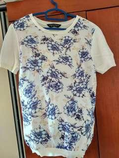 White flowery top