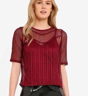 Preloved River Island Lace Top