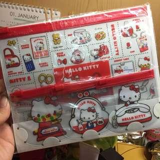 Hello Kitty 扁平夾鍊袋/Zip Bag