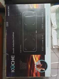 Kuche k2000 double stove induction cooktop