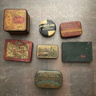 Small old tins