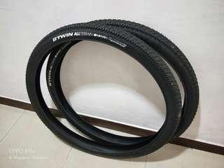 Btwin tyres 27.5 x 2.2