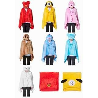 BT21hooded blanket sleeping cloak