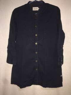 Wrangler Navy Blue Polo Blouse (M)