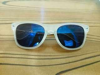 Sunglasses with White Frame