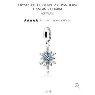 Pandora Crystallised Snowflake Hanging Charm