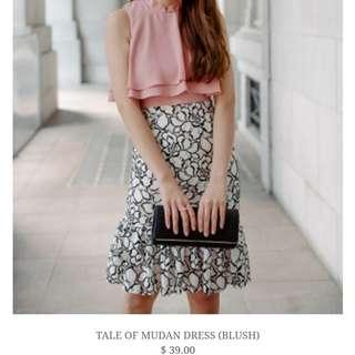 Tale of Mudan Dress Blush Chinese New year dress