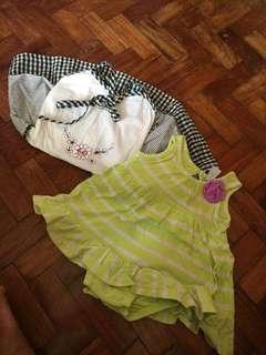 Carter's Onesie 0-3 months and Little Miss 2T Dress