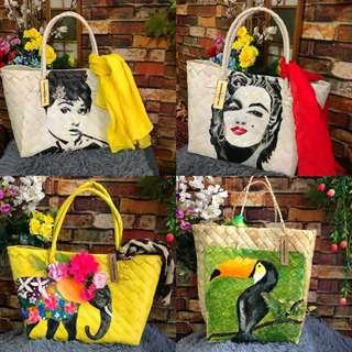 Handpainted bayong bags