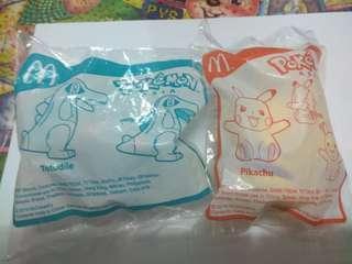 McDonald's Toys~pokemon(totodile and Pikachu)