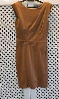 Brown office wear dress
