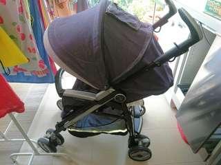 Peg Perego Pliko P3 compact stroller, denim style fabric