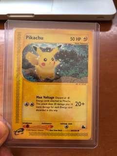 Skyridge Pikachu card