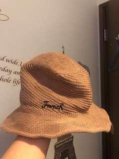 女裝 針織帽 鐵線邊