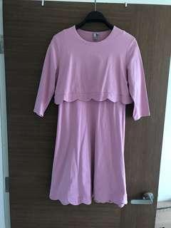 ASOS Pink maternity/nursing dress