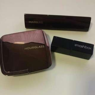 Hourglass foundation & highlighter, Smashbox lipstick