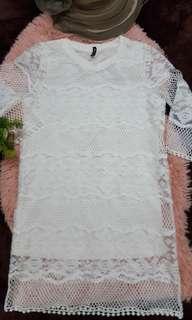 Lace Formal Knee-Length Dress