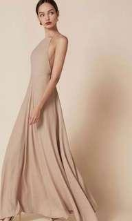 Reformation Nude Backless top