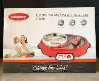 Electric Steamboat w BBQ Grill