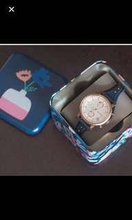 Original Fossil Boyfriend Chronograph and Anne Klein Rose Gold Watch