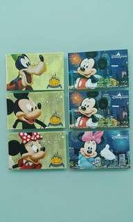 香港迪士尼樂園2005年開幕紀念門票及2007-2008年入場門票Hong Kong Disneyland 2005 Grand Opening Tickets & 2007-2008admission tickets(售剩右邊3張)