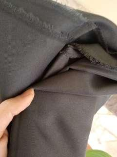 Dark grey cotton mix poly fabric