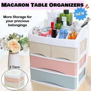 🚚 【NEW】Macaron Cosmetic/Makeup Organizer Storage 2/3 Drawers ★Large Compartment