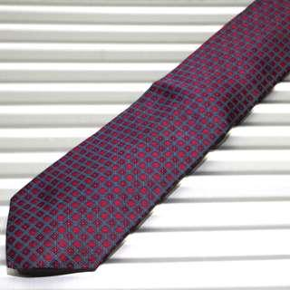 Hermes Red Tie w Checkered Flower Design (New Year Promosi)