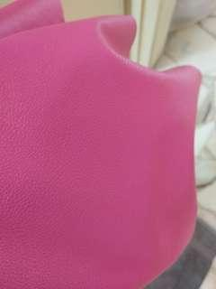 Magenta PU leather fabric