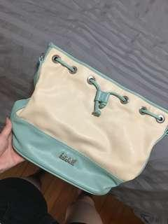 Kate Hill Crossbody Bag Beige and Blue