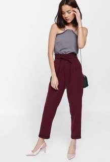 Love Bonito Shozanne String Tie Highwaisted Cuffed Pants