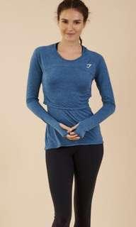 Gymshark double up long sleeved top