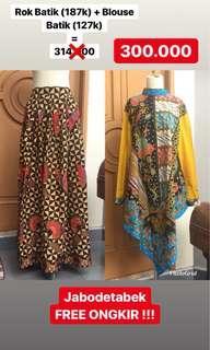 SALE!!! Rok Batik + Blouse Batik