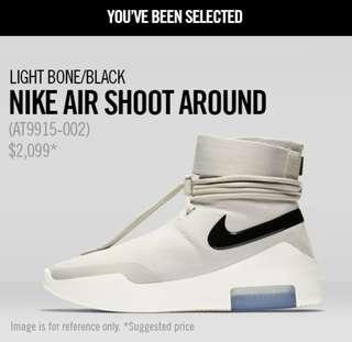 Nike Air Fear Of God Shoot Around US9 中籤