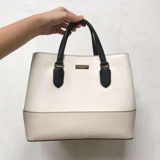 NEW Kate Spade white with nude bag with detachable sling