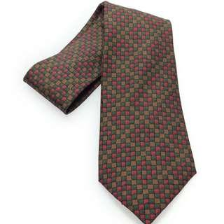 Hermes Brown Silk Tie with Pixelized Design (New Year Promosi)