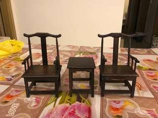 1/6 Scale Chinese Furniture - Set A