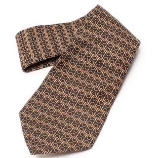 Hermes Black and Gold Silk Tie (New Year Promosi)