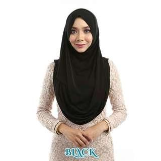Instant Shawl in Black & Instant Bawal in Pink Belacan