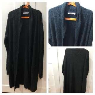 (Used)Long black cardigan/jacket 長冷馴