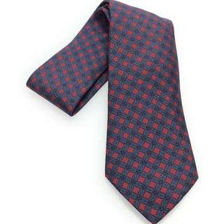 Hermes Red and Blue Design Silk Tie (New Year Promosi)