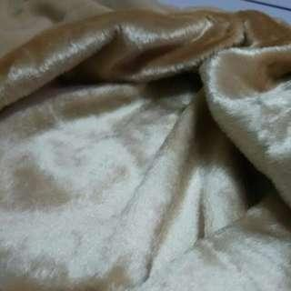 Khaki imported Fur Fabric