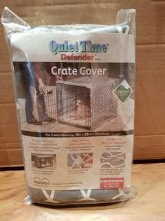 Crate for pets with crate cover