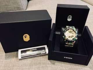 Japan JDM Casio G-Shock x Bape XXV 25th Anniversary Limited Edition Collaboration Signature 1st Camo GA110 Watch