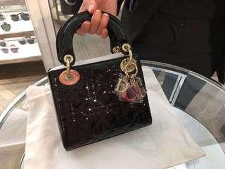 Dior lady Dior in black leather