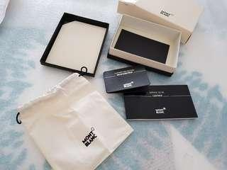 Mont blanc card holder box (box only)