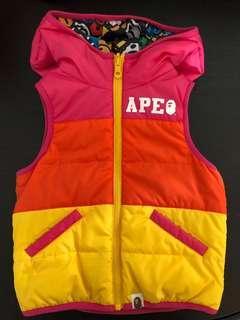 A Bathing Ape APE 小童雙面背心外套,100 size