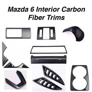 Mazda 6 Interior Carbon Fiber Trims (2017-2018)
