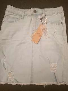 Light Denim Skirt size 8